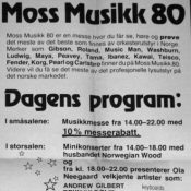 1980. Norway Tour advert